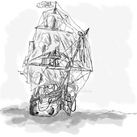 pirate ship tattoo drawing 58 ghost pirate ship tattoos