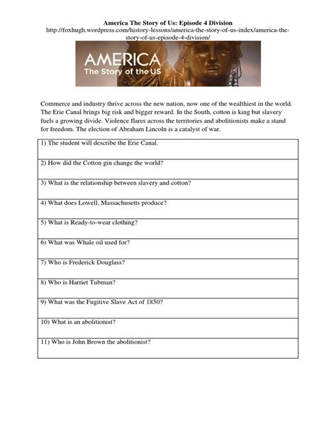 America The Story Of Us Rebels Worksheet by Free Worksheet America The Story Of Us Worksheets Phinixi Worksheets For Free