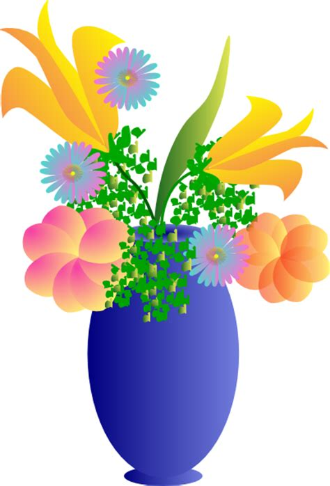 Clipart Flower Vase a vase of flowers clip at clker vector clip