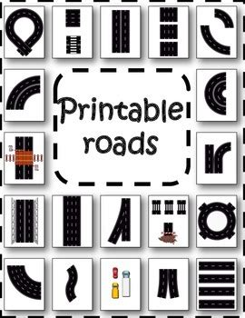 printable road printable roads by lessonsense teachers pay teachers