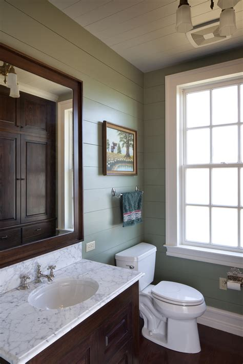 Painting Over Fake Wood Paneling shiplap bathroom rustic with ceiling baseboards