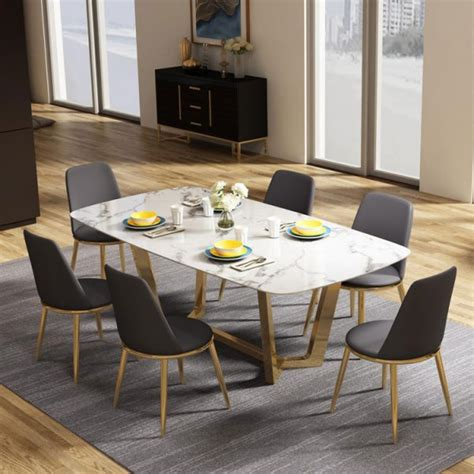 home modern luxury dining room big size marble dining tables
