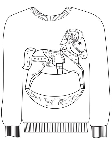 Coloring Sheets Ragstock Sweater Coloring Page