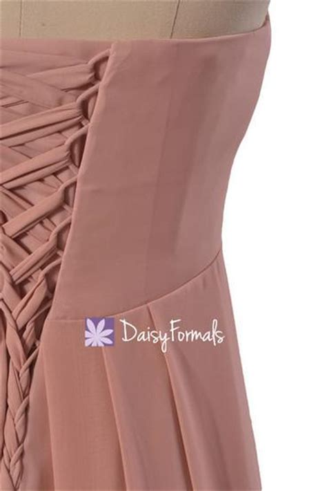 dusty pink l shade dusty rose pink chiffon dress long quartz bridesmaid dress