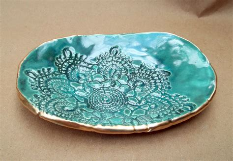 Handcrafted Ceramics - ceramic lace handmade pottery bowl