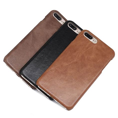 Original Leather Iphone 7plus genuine leather matte iphone 7 plus back cover