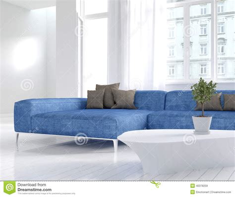 Photos Of Blue And White Living Rooms Interior Home by White Living Room Interior With Blue Stock Photo