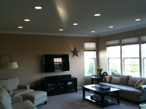 Living Room Recessed Lighting | recessed lighting installation drywall repair painting