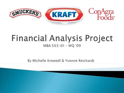 Financial Analysis Mba Management by Mba 503 Financial Analysis Project Presentation