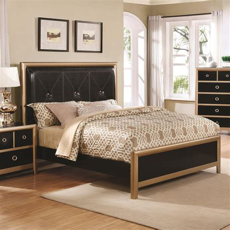 black and gold headboard zovatto black and gold art deco queen bed with upholstered