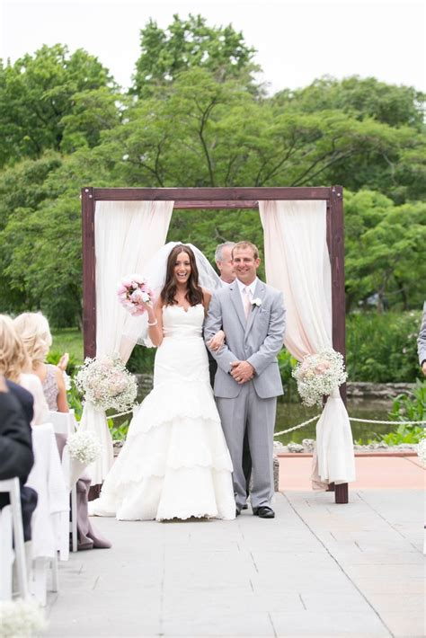 Wedding Arbor Fabric by Simple Wedding Arbor Draped With Fabric Back With