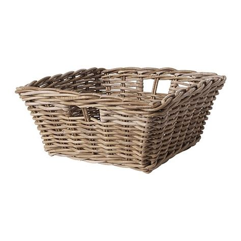 Ikea Baskets | byholma basket grey 40x40x18 cm ikea