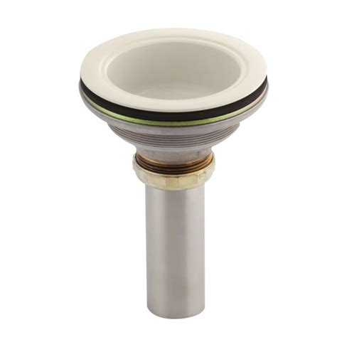 bathroom sink tailpiece kohler k 8804 47 almond body with tailpiece from