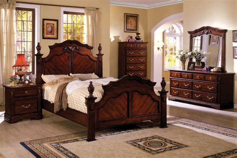victorian bedroom set furniture of america westin traditional 4 piece dark