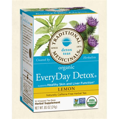 Traditional Medicinals Everyday Detox Lemon by Bettymills Organic Everyday Detox 174 Lemon Traditional