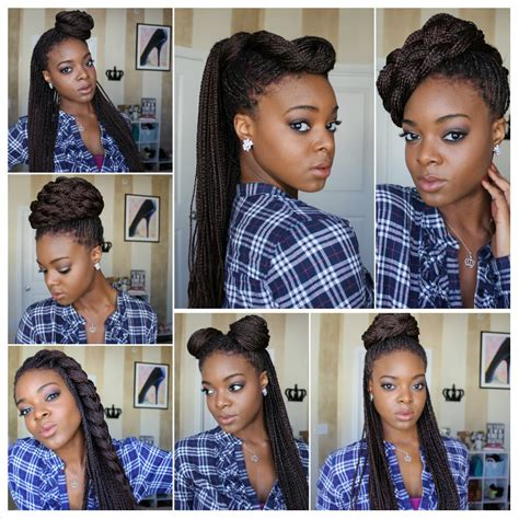 how to style my braided hair blocks styling box braids 7 ways protective styles youtube