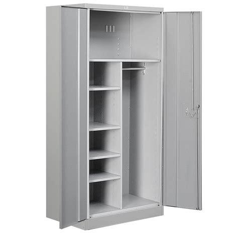 Suncast 40 in. x 80.25 in. 3 Shelf Resin Mega Tall Storage Cabinet in Platinum BMC8000   The