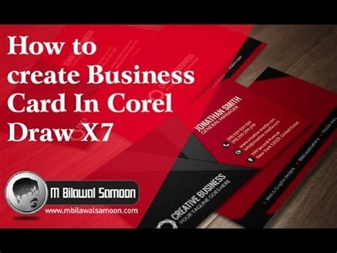 how to make a simple business card how to create simple business card for beginners in corel