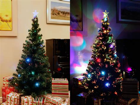 6 ft pre lit multi color led fiber optic christmas tree