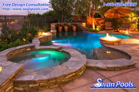 garden swimming pool custom dream homes snowy evening swan pools custom design a glowing evening eclectic
