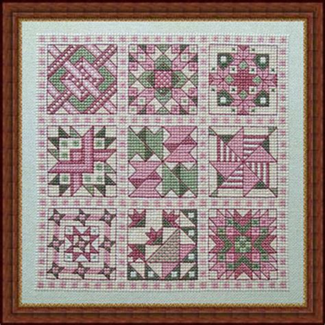 Quilt Cross Stitch by Whispered By The Wind Friendship Quilt V For This And That Cross Stitch Pattern 123stitch