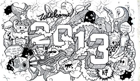 Doodle New Year 28 Images Happy New Year Sketch Doodle