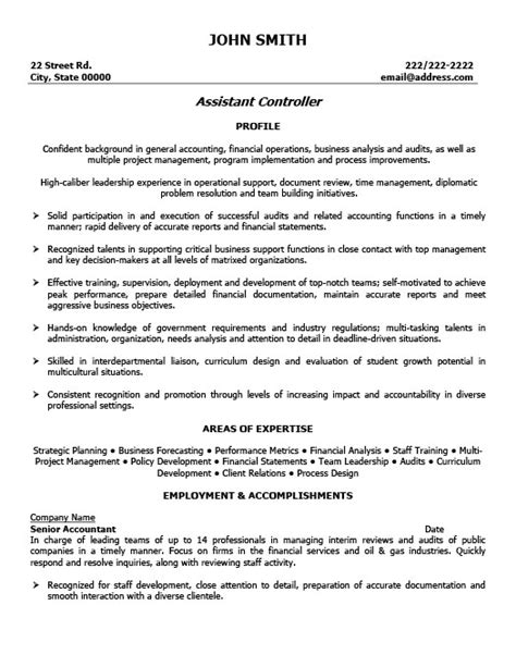sle resume financial controller position service