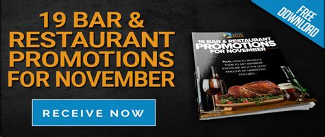 Restaurant Giveaways - november restaurant promotions