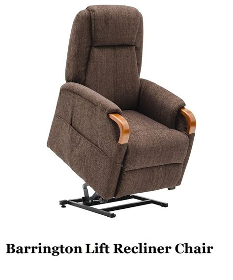 Electric Recliner Motors by Barrington Lift Chair Recliner Electric Motor Chocolate Fabric Timber Ebay