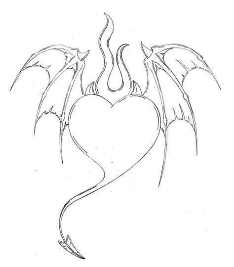 Devil Heart Coloring Page | devil heart by spyke420 on deviantart