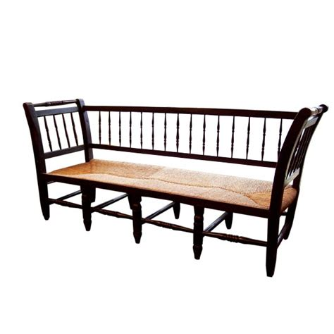antique black bench antique french black spindle bench at 1stdibs