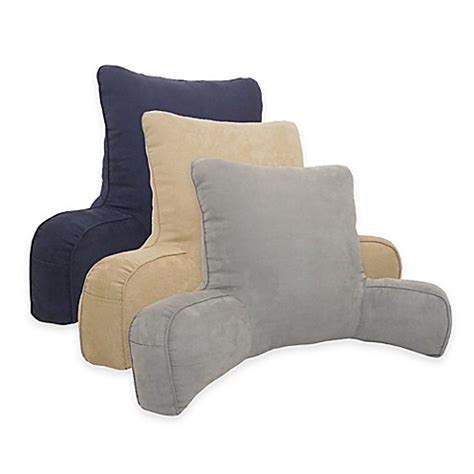 pillow for reading in bed arlee home fashions 174 suede oversized backrest pillow bed bath beyond