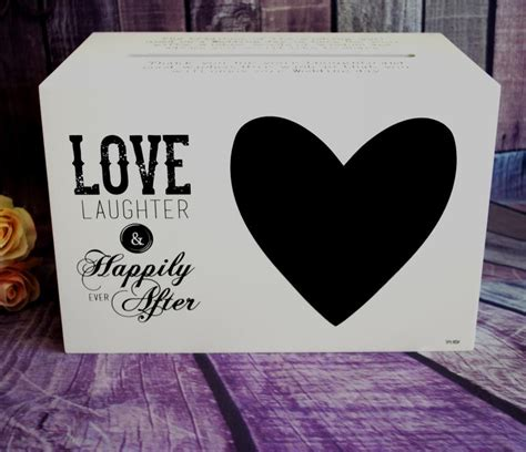 Wedding Wishes Happily After by Wedding Happily After Printed Timber Wishing Well Box