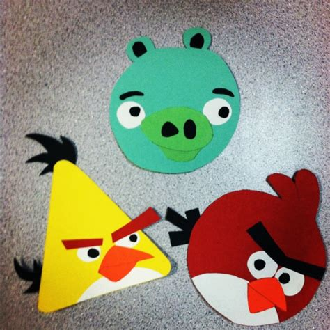 Construction Paper Craft Ideas For - angry birds construction paper arts