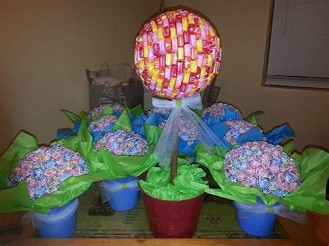 candyland themed baby shower starburst topiary for my land themed baby shower