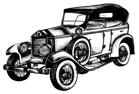 classic cars drawings car illustration krishna kapadia