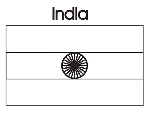 coloring page india flag geography blog india flag coloring page