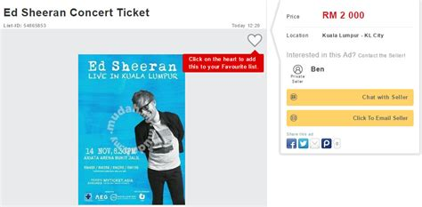 ed sheeran concert malaysia ed sheeran s kl concert tickets sold out people are