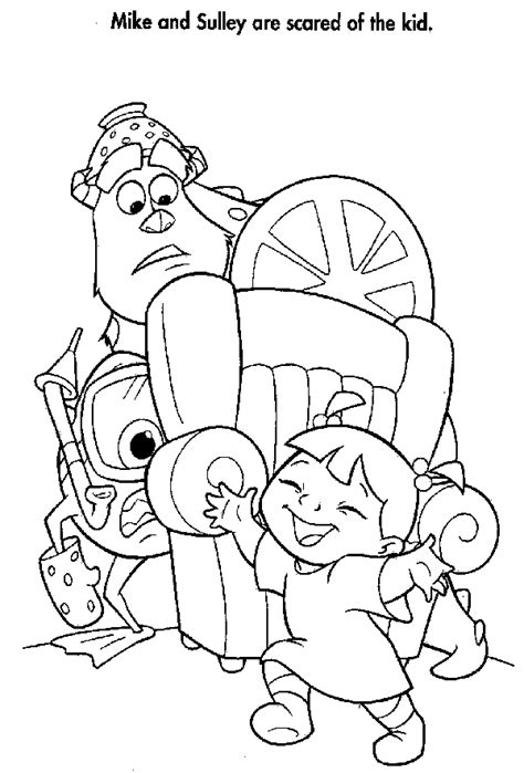 monsters inc coloring pages disney coloring page inc