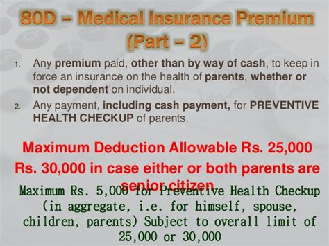 section 80d preventive health checkup deduction under chapter vi a section 80c 80u income tax