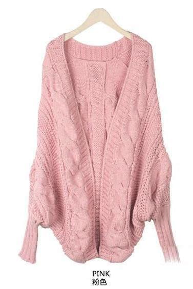 Limited Cardi Dusty Pink Cardi Fall Winter Cardigan Rajut Tbl fashion s casual sleeve wings prints coat cardigan jacket tops on luulla