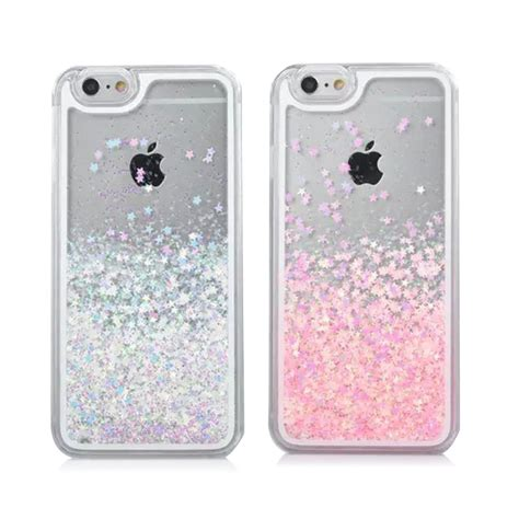 Open Po Liquid Glitter Sands For Iphone 6s Plus 7 Plus for iphone 6 transparent pc cover dynamic liquid glitter sand 3d back cover