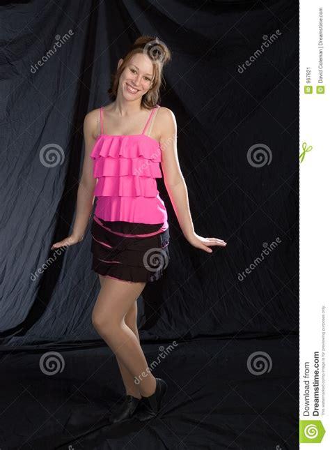 Jazz020 Pink jazz dancer in pink stock image image 967821