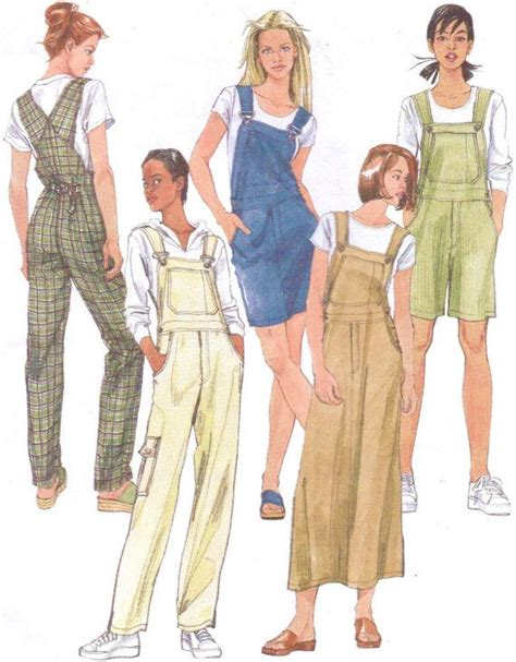 sewing pattern overalls 90s mccalls sewing pattern 2244 womens overalls and jumper