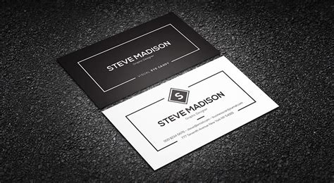 black and white business cards templates free free minimal black amp white individual business card template