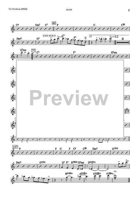 this ole house sheet music this ole house guitar sheet music for piano and more onlinesheetmusic com