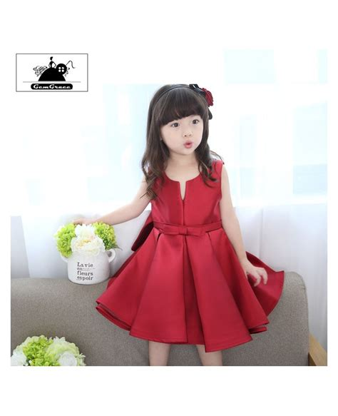simple chic satin couture flower girl dress short