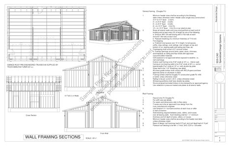 barn blueprints g258 45 215 30 10 barn plans blueprints sle page 4 pdf