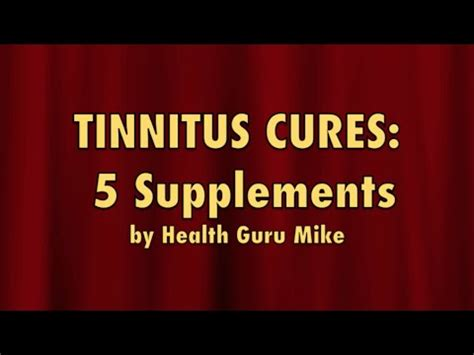 supplement for tinnitus tinnitus cures 5 supplements to cure tinnitus