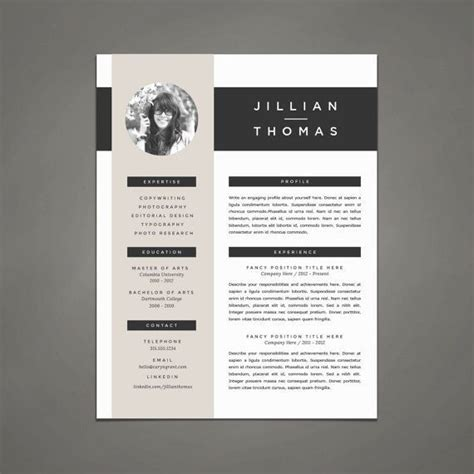 Resume Sles For Creative Design Professionals professional resume template and cover letter template for